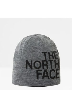 The North Face Bonnet Reversible Banner Tnf Medium Grey Heather/tnf Black Taille Taille Unique