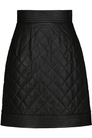 Dolce & Gabbana Mini-jupe en cuir matelassé