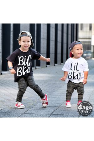 GagaKidz Chemise Big Brother, Chemise Little Bro, Lil Brother Gift Announcement Sibling Clothes Set Outfits Baby Bodysuit Shirt