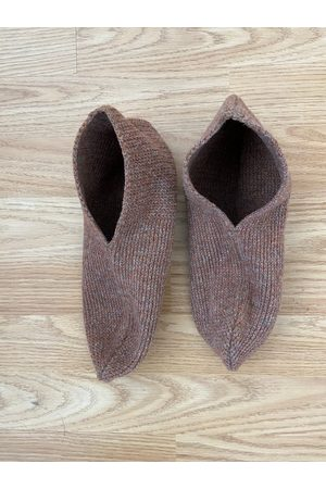 Frenchauthentic Nos - Vintage Retro Brown Wool Slipper Socks/Boot Inserts | Taille M Uk39-41