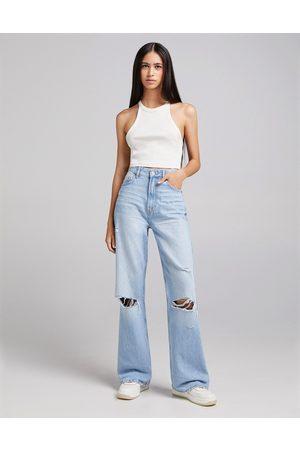 Bershka Femme Coupe droite - Jean droit style années 90 - vintage