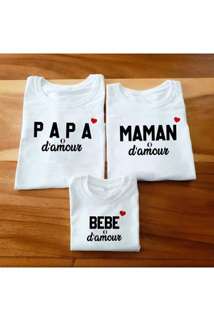 magiculos Femme Manches courtes - T-Shirt Assorti/T-Shirt Famille D'amour