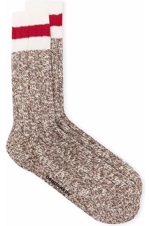 Dsquared2 Homme Chaussettes & Bas - Striped detail ankle socks