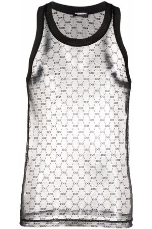 Dsquared2 Homme Tank tops - Lace tank top