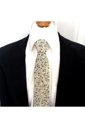 Liberty59 Liberty Imprimer Man's Necktie ~ Made in Fairford Liberty Print Browns , Blues & Greens Men's Cravate