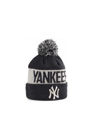 New Era Bonnets - Bonnet MLB New York Yankees à pompon Team Tonal Marine