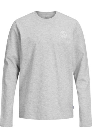 JACK & JONES Garçons Logo T-shirt À Manches Longues Men grey