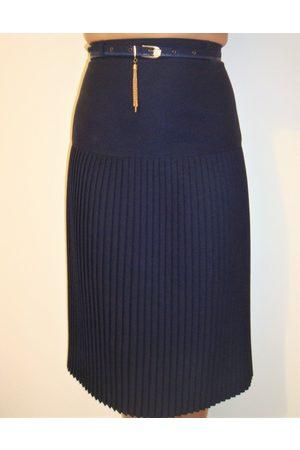 retrovintageluxe Jupe Plissée Vintage 60 Polyester Marine Taille 38