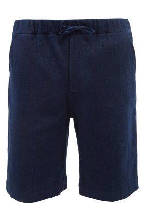 11.11/eleven eleven Homme Shorts en jean - Short en denim à taille à cordon coulissant