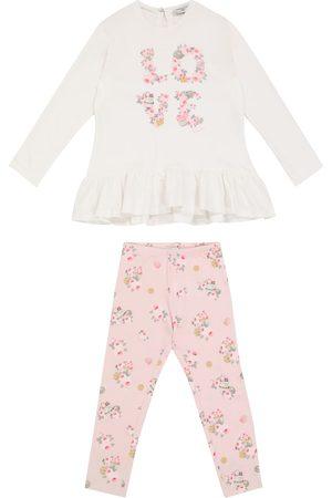 MONNALISA Bébé – Ensemble top et legging en coton à fleurs