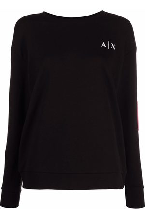 Armani Graphic-print cotton-blend sweatshirt
