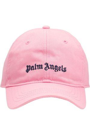Palm Angels Casquette En Gabardine De Coton À Logo