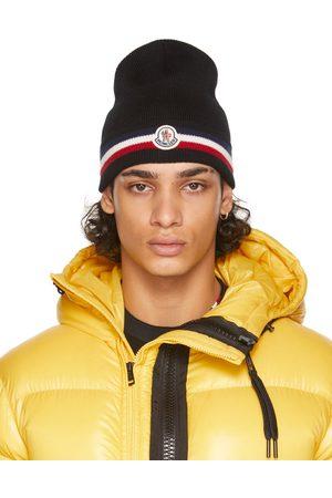 Moncler Homme Bonnets - Bonnet noir en laine à rayures