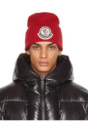 Moncler Homme Bonnets - Bonnet rouge en laine à logo