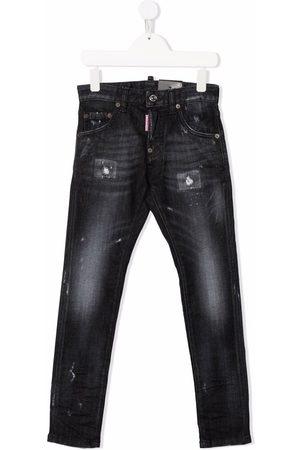 Dsquared2 Garçon Slim - Distressed-finish slim-fit jeans