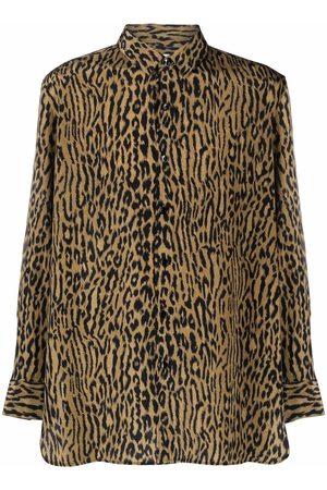 Saint Laurent Leopard-print silk shirt