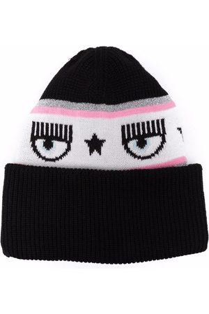 Chiara Ferragni Logomania knit beanie hat