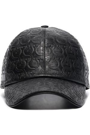 Salvatore Ferragamo Homme Bonnets - SF AO TONAL LOGO BASEBALL CAP BLACK