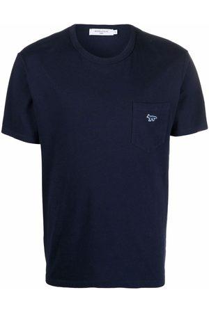 Maison Kitsuné Embroidered-logo pocket T-Shirt