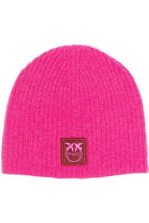Pinko Femme Bonnets - Bonnet en maille à patch logo