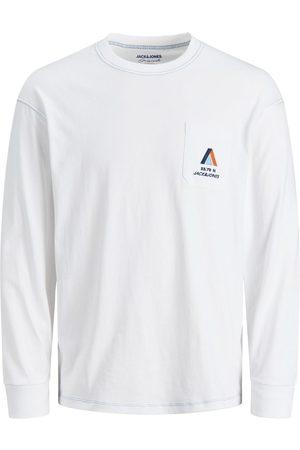 JACK & JONES Garçons Jersey T-shirt À Manches Longues Men White