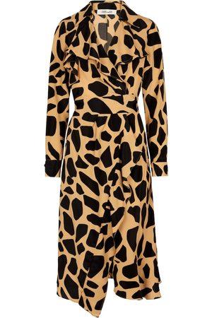 Diane von Furstenberg Robe portefeuille Eden en crêpe de soie mélangée