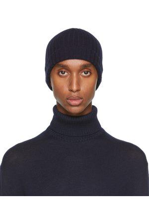 Jil Sander Homme Bonnets - Bonnet bleu marine en maille de laine