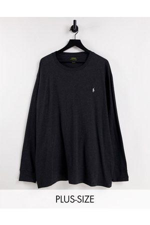 Polo Ralph Lauren Big & Tall - Top manches longues à logo emblématique - chiné