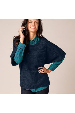 Blancheporte Pull poncho manches coudes