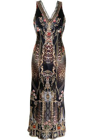 Camilla Gothic Goddess silk slip dress