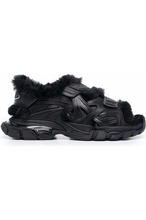 Balenciaga Homme Sandales - Track faux-fur touch-strap sandals
