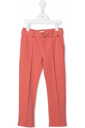 Chloé Kids Fille Pantalons - Buckle fastening trousers