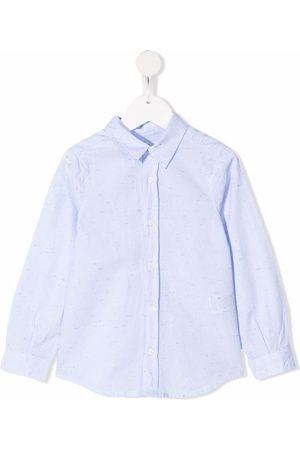 Bonpoint Speckle-detail long-sleeve shirt