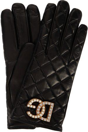 Dolce & Gabbana Gants matelassés en cuir