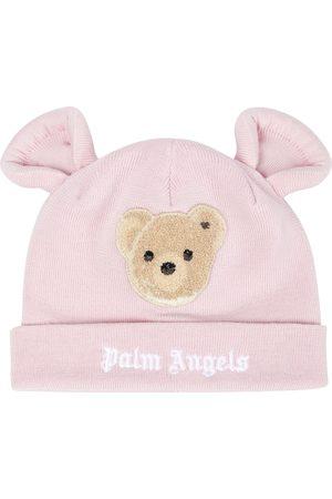 Palm Angels Bonnet en laine vierge à logo