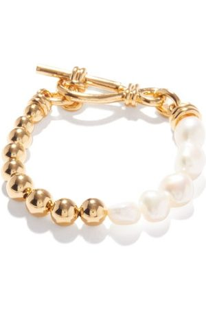 Missoma Bracelets - Bracelet en plaqué 18 carats et perles baroques