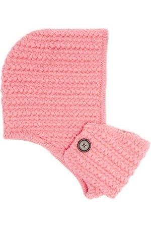 Miu Miu Femme Bonnets - Bonnet façon capuche à masque en laine