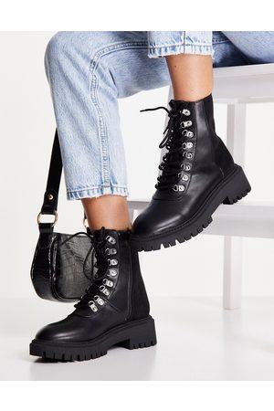 London Rebel Bottines chunky style chaussures de randonnée