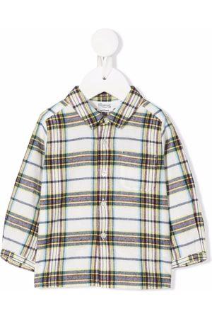 BONPOINT Plaid long-sleeve cotton shirt