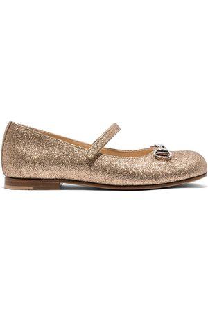 Gucci Aisha glitter ballerina shoes
