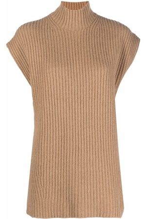 Ganni Rib-knit oversized vest top