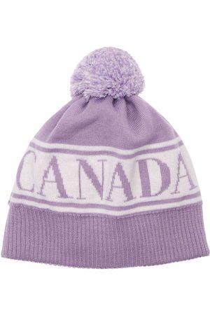 CANADA GOOSE Logo Wool Beanie W/ Pompom