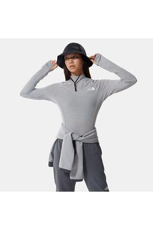 The North Face T-shirt Court À Manches Longues Tekware Pour Femme Meld Grey Heather Taille L