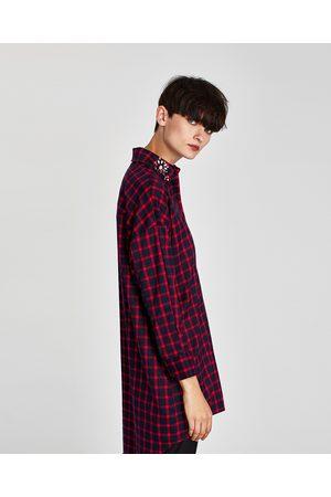 Zara Femme Robes business - ROBE CHEMISE BIJOUX - Disponible en d'autres coloris