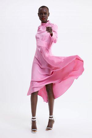 Zara Femme Robes longues - Robe longue à boutons bijoux