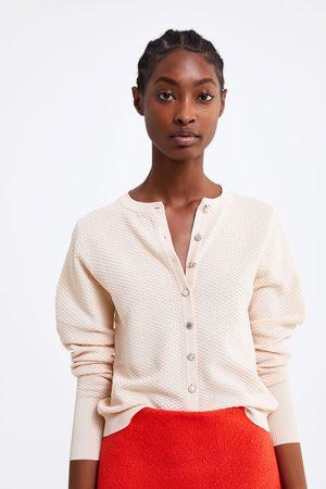 Zara Femme Bijoux - Gilet structuré à boutons bijoux