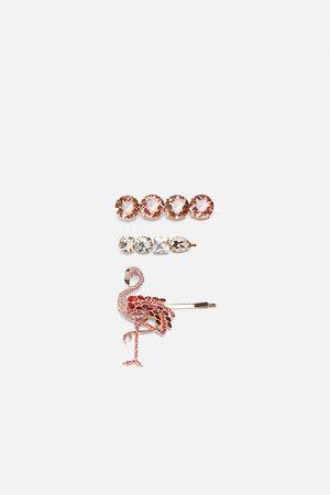 Zara Femme Bijoux - Lot de pinces à flamant et bijoux