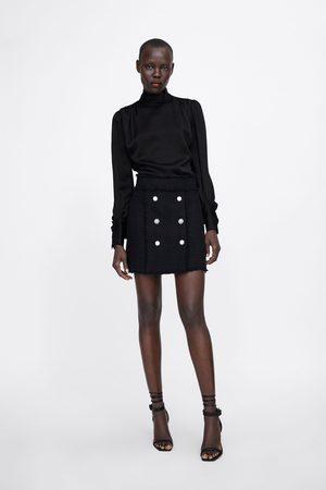 Zara Femme Mini-jupes - Mini jupe à boutons bijoux