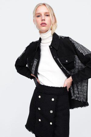 Zara Mini jupe à boutons bijoux