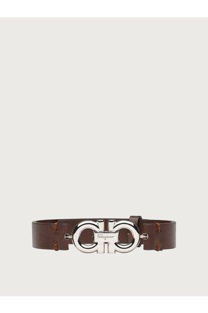 Salvatore Ferragamo Homme Montres - Hommes Bracelet en cuir Gancini double face Brun